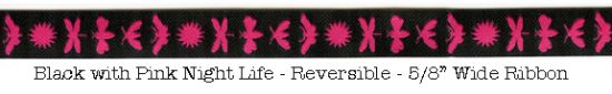 Black with Pink Night Life Ribbon