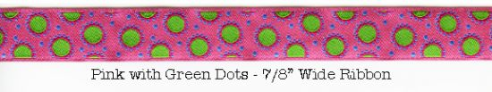 pink with green dot ribbon