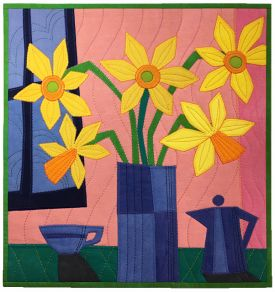 Domestic Bliss: Abstract Applique Still Life